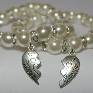 Set Of 2 Mother Daughter Gift Mommy Bracelet Mom