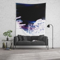 Midnight Forest Wall Tapestry by lilkiddies