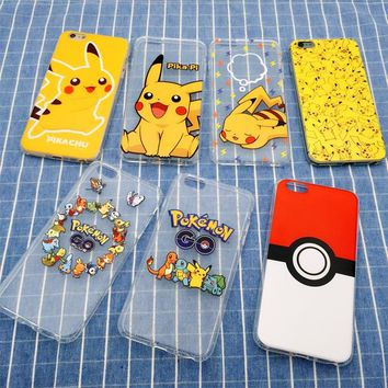 Pokemon Pikachu Case silicone Tpu Cover For iPhone