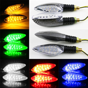 Cls Nice Color 1 pair of Universal LED Motorcycle Turn Signal Indicators Lights lamp Aug 15