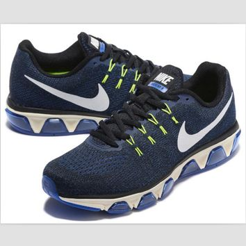 NIKE fashion knitted casual shoes sports running shoes Dark blue sapphire blue