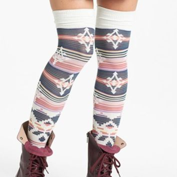 Free People 'Geo' Over the Knee Socks | Nordstrom