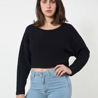 rsaal302 - Cropped Reversible Easy Sweater
