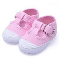 Newborn Baby Soft Anti-Slip Shoes Girl Footwear Crib Canvas Shoes Sneakers baby girls shoes
