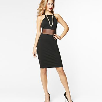 Bodycon Dress with Mesh