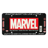 Marvel Deadpool Stupid License Plate Frame
