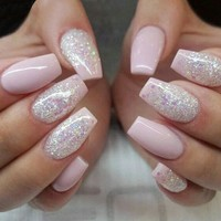 500pcs Fashion Fake Nails Press On Girls Finger Beauty False Nail Plastic Nail Art Tips Full Cover false french nail art tips