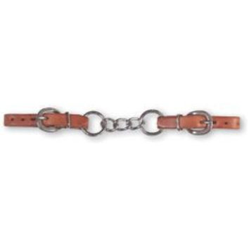 Martin 3 Link Harness Leather Curb Strap