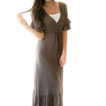 Boho Babe Maxi Dress In Olive