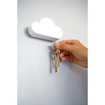 SUCK UK Magnetic Key Holder Shaped Like a Cloud