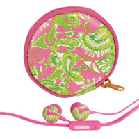 Lilly Pulitzer Earbuds and Pouch | Lifeguard Press