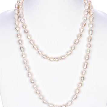 Cream Fresh Water Pearl Extra Long Necklace