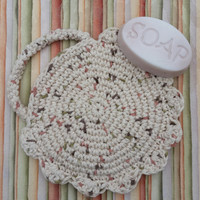 Soap Saver Bath Accessory Spa mitt handmade Cotton crochet baby soft Mother's Day gift for her Make it Your Own Personal Bath Accessory