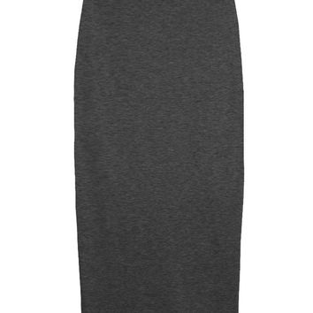 Charcoal Knit High-waist Skirt