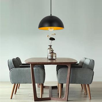 """Dome Pendant Lights for Kitchen Dining Table Oil-Rubbed Black 12"""""""