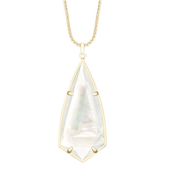 Kendra Scott Carole Necklace Pendant in Gold with Mother of Pearl