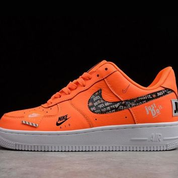 2018 Nike Air Force 1 Low Just Do It Total Orange/black-white 905345-800 - Beauty Ticks