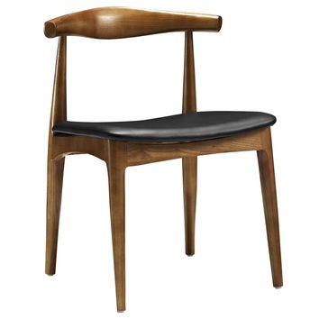 Tracy Mid-century Wood Dining Chair with Faux Leather Seat