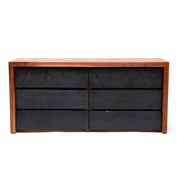 I liked this design on #Fab. SQR Long Dresser Walnut