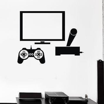 Wall Stickers Video Game Gamer PC Play Room Boy Teen Vinyl Decal Unique Gift (ig1964)