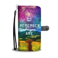 QIYIF Remember Who You Are The Lion King Wallet Phone Case