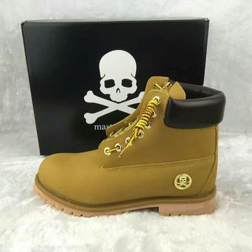 Timberland For Men Women 6-Inch Premium Waterproof Wheat Color Skull boot