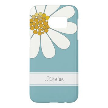 Daisy flower personalize name samsung galaxy s7 case