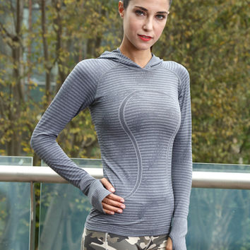 Hats Gym Tops Quick Dry Ladies Long Sleeve Yoga T-shirts [4919144964]