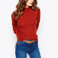 New Look Fisherman Rib High Neck Jumper