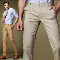 Casual Straight Slim Long Men's Pants = 1782384964