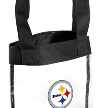 Forever Collectibles NFL Pittsburgh Steelers Clear Tote Bag