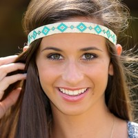 Through A Traveler's Eyes Headband-Ivory