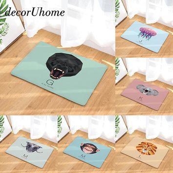 Autumn Fall welcome door mat doormat decorUhome Waterproof Welcome  Cartoon Animals Letters Carpets Bedroom Rugs Decorative Stair Mats Home Decor Crafts AT_76_7
