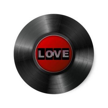 Love Round Vinyl Sticker
