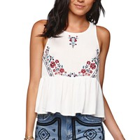 Kendall & Kylie Embroidered Tank - Womens Shirts -