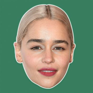 Bored Emilia Clarke Mask - Perfect for Halloween, Costume Party Mask, Masquerades, Parties, Festivals, Concerts - Jumbo Size Waterproof Laminated Mask