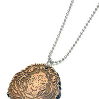 Lion Wood Pendant