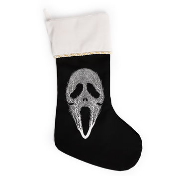 "BarmalisiRTB ""The Scream Tree"" Black White Christmas Stocking"