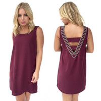 Sparkle Of My Eye Dress in Burgundy