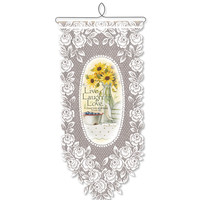 Live Laugh Love Wall Hanging, White