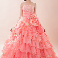 Glamorous Pink Quinceanera Ball Gown with Ruffles G2015 | JoJo's Shop