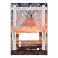 Sunset Tropical Beach Wedding Arch Card