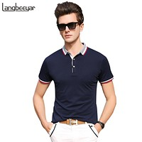 Polo Shirt Men Streetwear Mens Polo Slim Fit Summer Shirts With Short Sleeve Mens Clothing