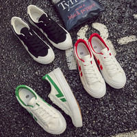Fashion All-match Small White Shoes Casual Female Harajuku Shoes Simple Canvas Straps Shoes Flats Shoes Student Shoes Plate Shoes Low Shoes Single Shoes Sports shoes