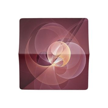 Movement Abstract Modern Wine Red Pink Fractal Art Checkbook Cover