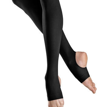 Ladies Stirrup Tights (Black) T0938L