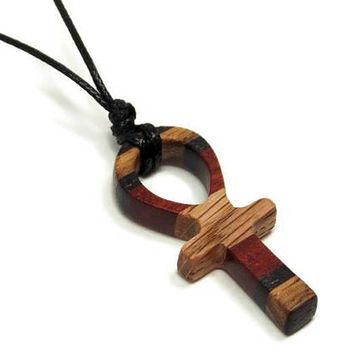 Mens Ankh Pendant Necklace, Mens Jewelry Ankh, Ankh Necklace, Wooden Ankh Necklace, Womens Necklace Ankh, Mens Necklace, Womens Pendant Ankh