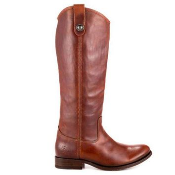 ONETOW Frye Boot Melissa Button - Brown Tall Riding Boot