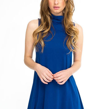 Bobi Sleeveless Turtleneck Dress