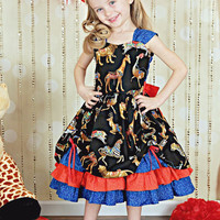 Girls Party Dress - Girls Fancy Dresses - Circus Birthday Outfit - Circus Party - Girls Dress Up Clothes - Circus Ringmaster Costume - 6m-8y